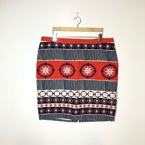 Boden Textured Embroidered Skirt Size US 16R